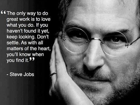 find what you love steve jobs pdf Being rushed to the market after the passing of jobs, i, steve: steve jobs in his own words, reveals the thoughts of the celebrated apple co-founder a second theme reflects on the importance of staff and the value of teamwork--finding great people and giving them the opportunity to do things they love.