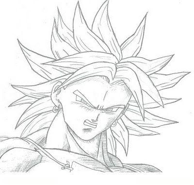 Broly Para Colorear 4 Dibujo Como Dibujar A Goku Goku Dibujo A Lapiz Fantasmas Para Dibujar