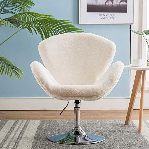 Buy Faux Fur Vanity Chair Adjustable Soft Plush Shaggy Fluffy
