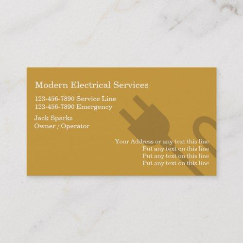 Pin On Electrician Business Card Templates Custom Personalized Design