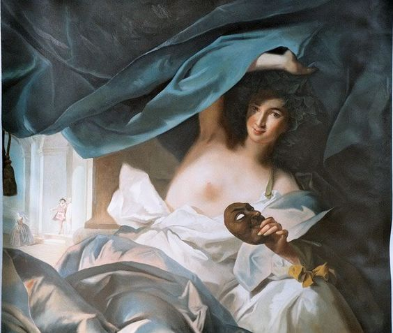 Talia, Muse of Comedy by Jean-Marc Nattier (French 1685-1766)