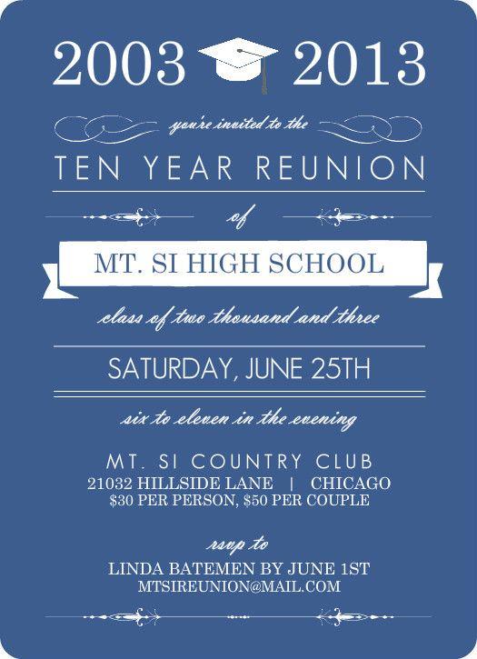 class reunion invitations Google Search Reunion Marketing