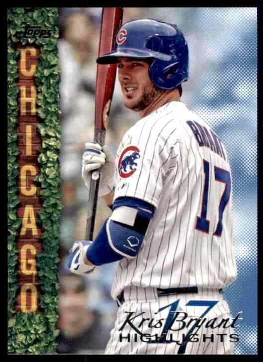 2018 Topps Wal-Mart Highlights #KB-24 Kris Bryant Chicago Cubs Baseball Card