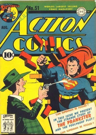 Action Comics 51 first appearance of the Prankster.