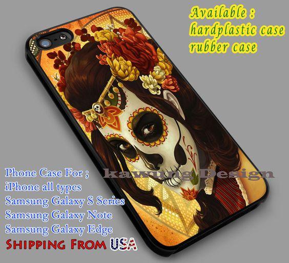 Skull Sugar Flower iPhone 6s 6 6s  6plus Cases Samsung Galaxy s5 s6 Edge  NOTE 5 4 3 #art dl4