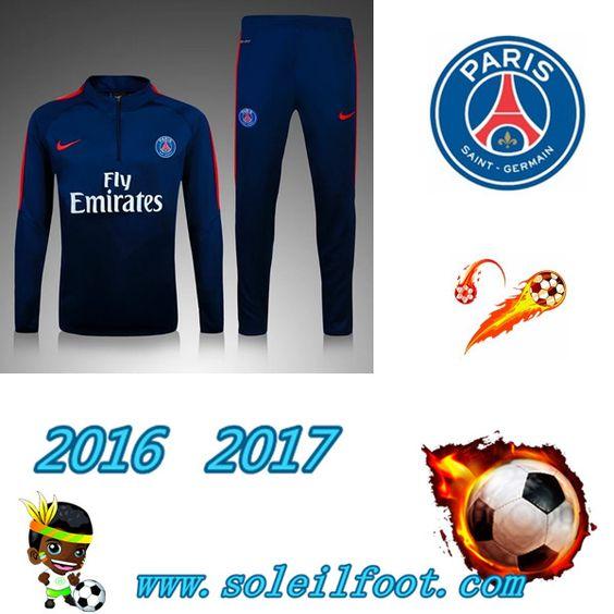 League 1: Survetement De Foot Saint Germain Paris Enfant Bleu Marine saison 16…