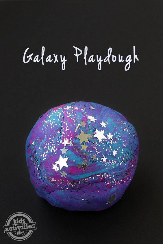 Galaxy Play Dough