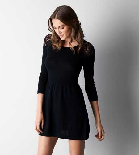 AEO Lace Shoulder Sweater Dress - Buy One Get One 50% Off - Winter ...