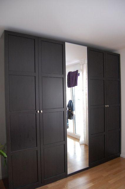 ikea pax wardrobe with hemnes doors ikea pinteres. Black Bedroom Furniture Sets. Home Design Ideas