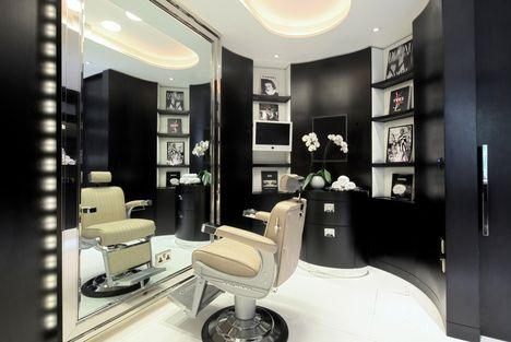 Daniel galvin movie makeover room at corinthia hotel for Interior stylist london