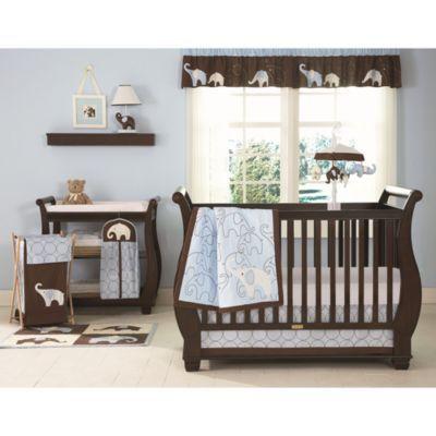 Carter's® Blue Elephant 4-Piece Crib Bedding Set - BedBathandBeyond.com