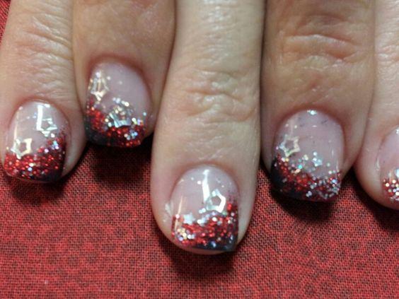 Shining star acrylic nails