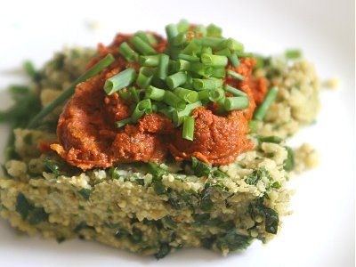 Millet and Swiss Chard Polenta with Sun Dried Tomato Pesto | cookbook ...