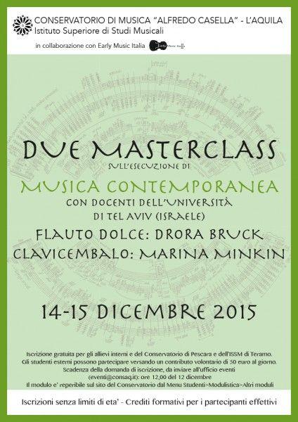 Drora Bruck Marina Minkin - Masterclass di musica contemporanea