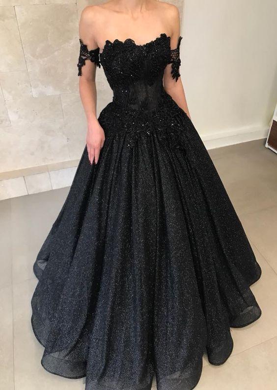 Vestido de formatura preto meigo