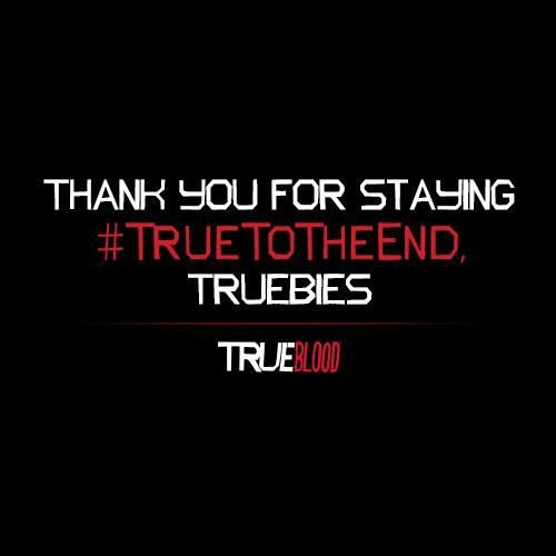 So sad True Blood is over...  The end of an amazing era!!!!!!