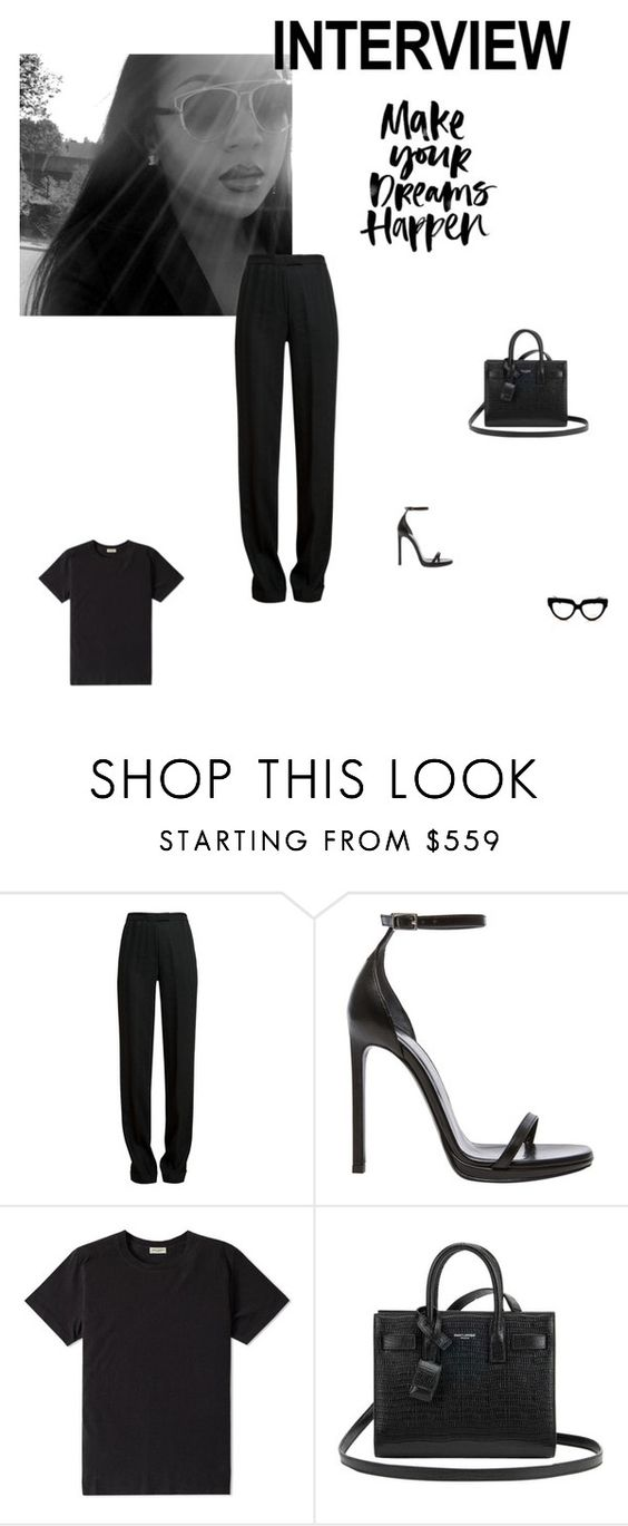"""Crush"" by rikazukizu ❤ liked on Polyvore featuring Ann Demeulemeester, Yves Saint Laurent, Prada, jobinterview and 60secondstyle"