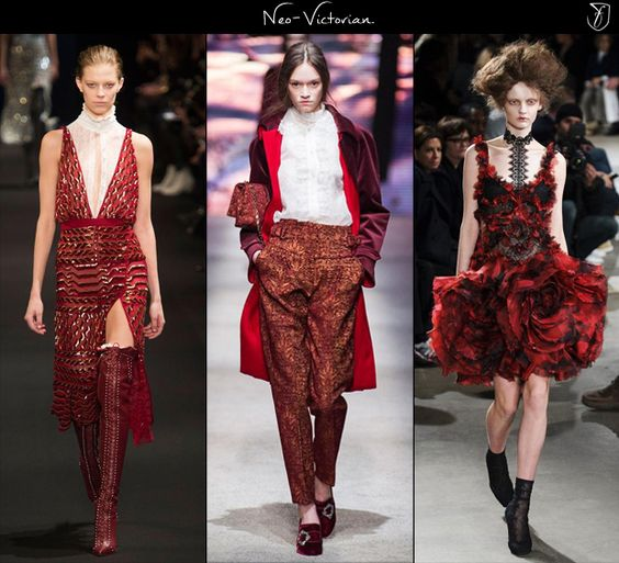 F/W 2015-16 women's Fashion trends: Neo Victorian. (Altuzarra, Alberta Ferretti & Alexander McQueen, F/W '15)
