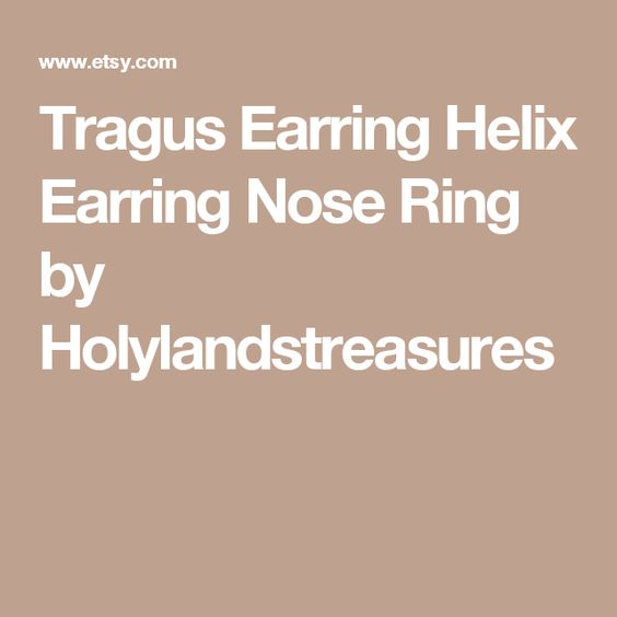 Tragus Earring Helix Earring Nose Ring by Holylandstreasures