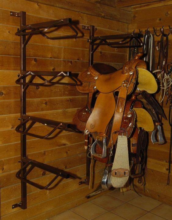 Wall Mount Saddle Rack