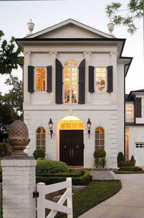 Inspiration from my Pinterest   French exterior, Black shutters and House