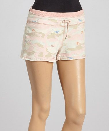 Loving this Pink Camo Knit Shorts on #zulily! #zulilyfinds