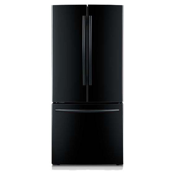 22 cu. ft. 30-Inch French Door Refrigerator RF220NCTABC (Black) | Samsung Home Appliances