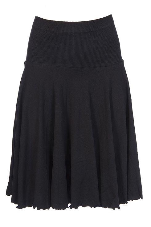 knit circle skirt with drop waist