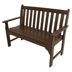 "Polywood® Vineyard 48"" Patio Bench - Dark  Brown"