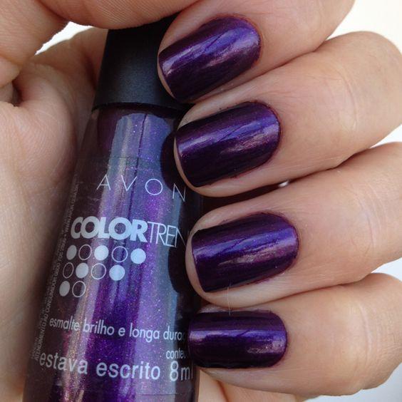 Avon: Avons Nail, Fingernail Polish, Painted Fingernails, Fashionable Fingernails, Purple Fingernail, Avon Nails, Avon Products, Avon Mark Products, Nail Art