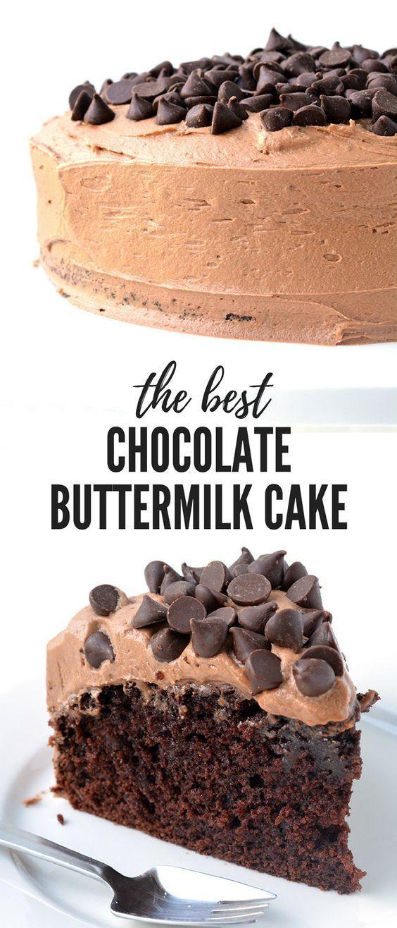 Chocolate Buttermilk Cake Moist And Tender Sweetest Menu Recipe Best Chocolate Cake Cake Recipes Desserts