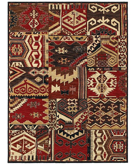 Shaw Living Rugs, American Abstracts Collection 07800 Sparta Red - Rugs -  Macyu0027s