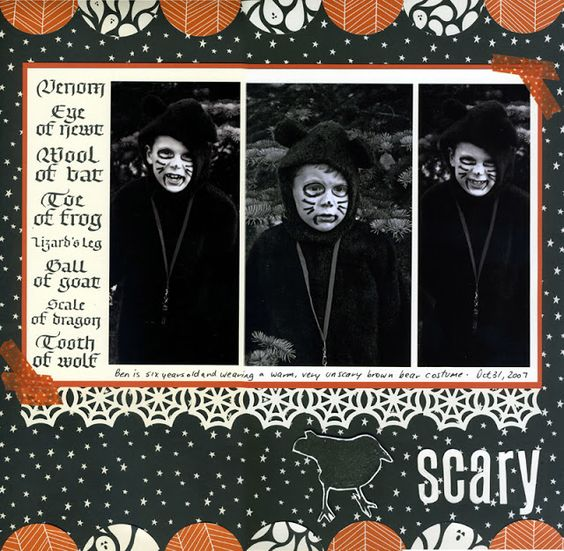 Quietfire Creations: A Scary Halloween Layout - Guest Designer Connie Nichol