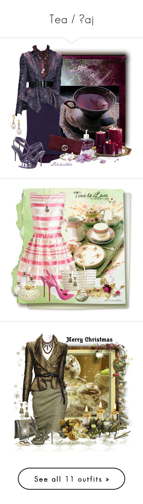 """Tea / Čaj"" by lilikatka ❤ liked on Polyvore featuring Zac Posen, Gucci, Lolita Lempicka, Blue Nile, Chanel, Swesky, Max Studio, women's clothing, women and female"
