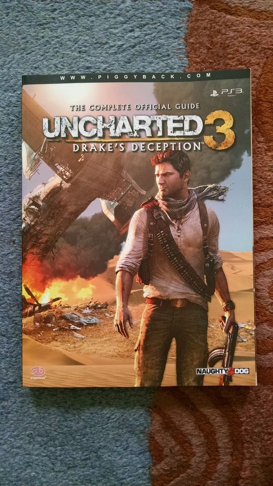 Uncharted 3 Drake S Deception Guide Book For Ps3 Used Rare