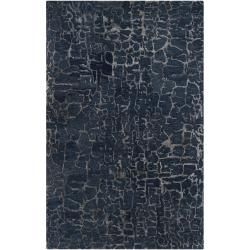 Hand-tufted Blue Papillion New Zealand Wool Rug (3'3 x 5'3) | Overstock.com $234