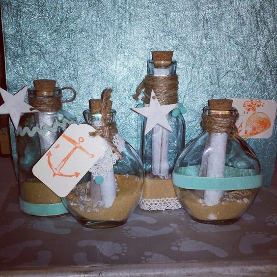 Message In A Bottle Invitations For Under The Sea Theme For Baby Shower