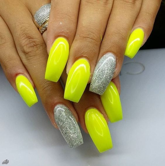 77 Stunning Yellow Neon Nail Art Designs And Ideas Neon Nails