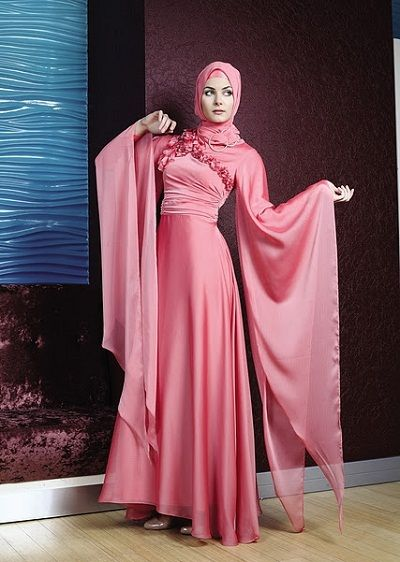 hijab fashion #fashion #hijab #abaya http://www.a3da.net/evening-dresses-veiled-2014/