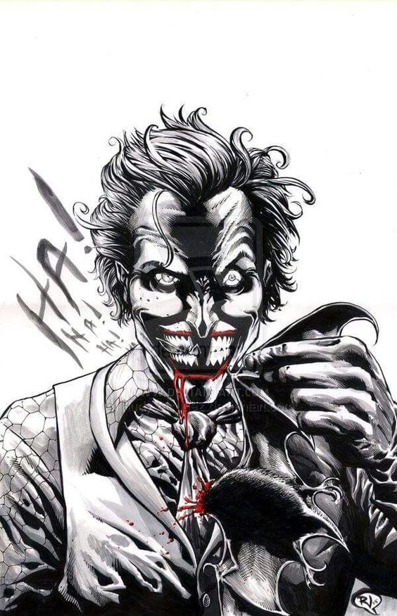 Joker black and white