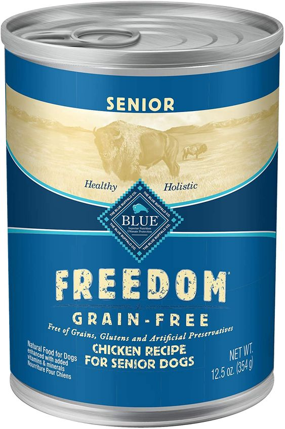 Blue Buffalo Freedom Grain Free Natural Senior Wet Dog Foodchicken Oz Canspack Of Pet Supplies Amazon Affiliat Wet Dog Food Food For Chickens Dog Food Recipes