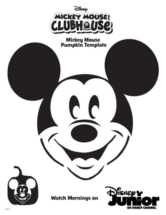 This is a picture of Influential Mickey Mouse Pumpkin Stencils Printable