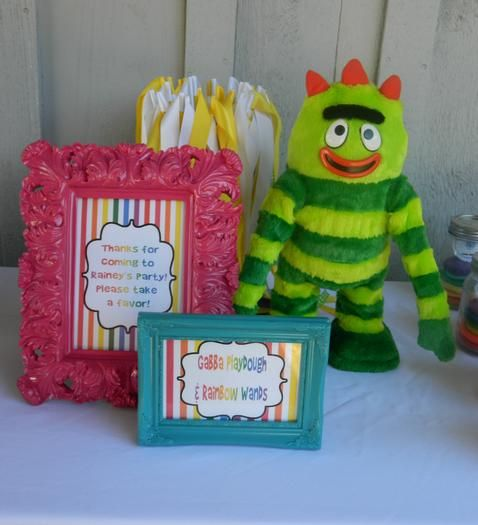 Pic frames with food labels and Polka dot paper