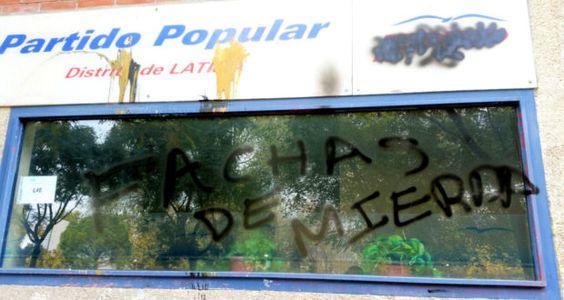 LATINA   Enésimo ataque a nuestra sede – Grupo Municipal PP Ayuntamiento de Madrid