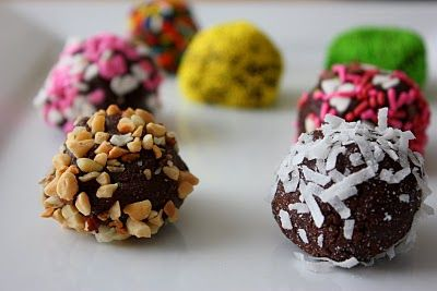 Brownie Truffles....will be making some version of this per my sister's request for Thanksgiving