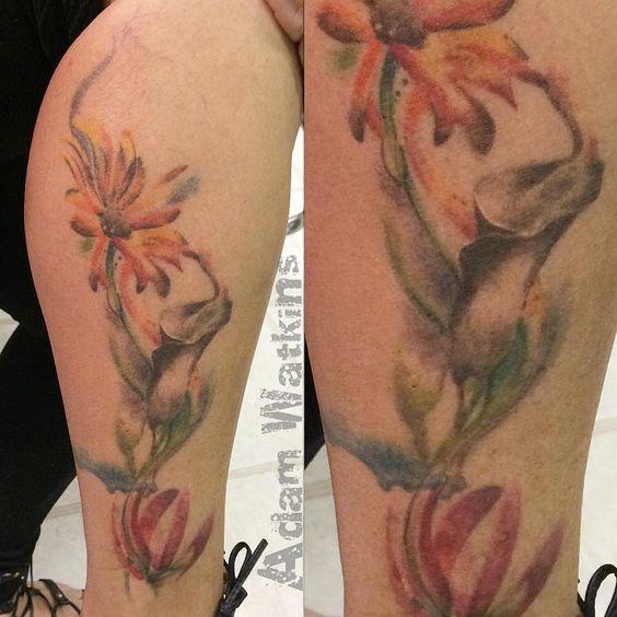 awesome Top 100 daisy tattoos - http://4develop.com.ua/top-100-daisy-tattoos/ Check more at http://4develop.com.ua/top-100-daisy-tattoos/