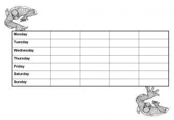 Printable Spiderman Behavior Chart