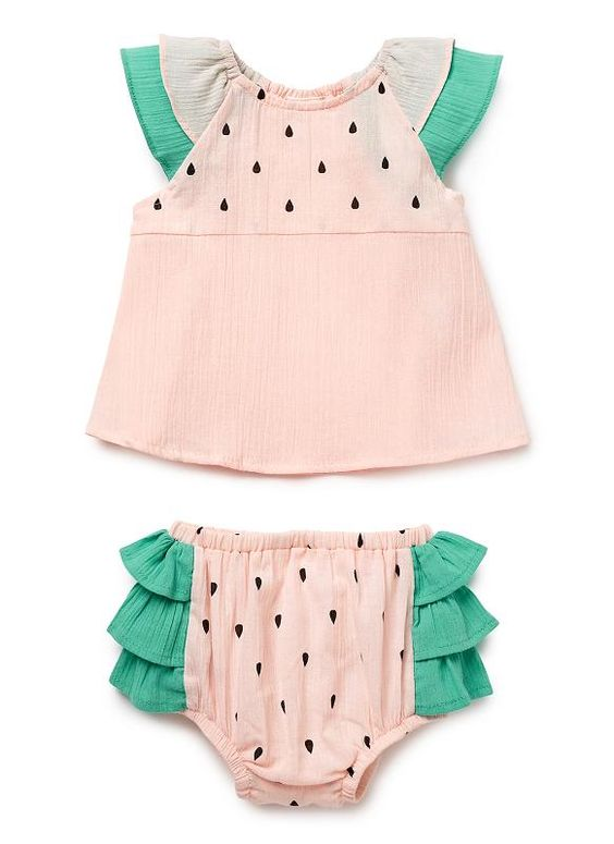 Baby Girls Dresses & Tunics | Watermelon Set | Seed Heritage