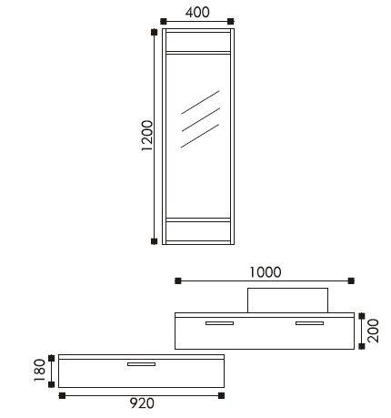dimensions meuble simple vasque tonia - Dimention Meuble Double Vasque