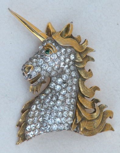 Vintage Christian Dior by Kramer Unicorn Horse Brooch Pin Early 50'S | eBay
